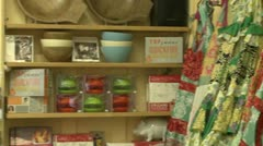 Aprons and items in a Country Store Stock Footage
