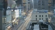 Timelapse Traffic at sunset on 8th Ave Stock Footage