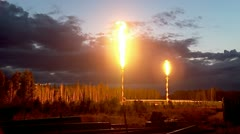Oil torch Stock Footage