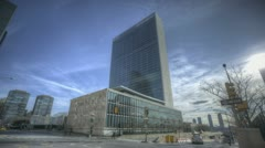 HDR-Timelapse United Nations Building Stock Footage