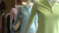 Clothes being display in a designer clothing store (2 of 2) Stock Footage