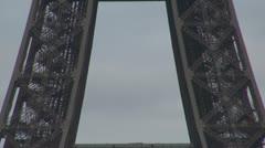 Timelapse Details of Eiffel Tower symbol silhuette tourism paris Stock Footage