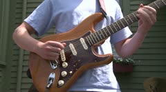Guitarist playing with a band (1 of 6) Stock Footage