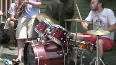 Guitar player and a drummer playing in a band (3 of 3) Stock Footage