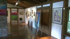Displayed art in side a Gallery (3 of 5) Stock Footage