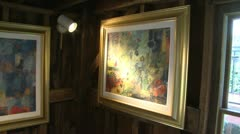Displayed art in side a Gallery (4 of 5) Stock Footage