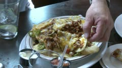 Person eating nachos (1 of 2) Stock Footage