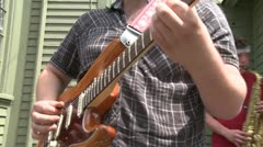 Guitarist playing with a band (4 of 6) Stock Footage