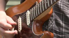 Guitarist playing with a band (5 of 6) Stock Footage