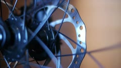 Bicycle Hub and Disc Brake 02 Stock Footage