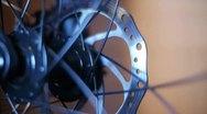 Bicycle Hub and Disc Brake 02 Stock Footage