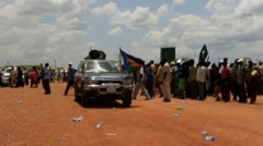 South Sudan Protest Truck Stock Footage