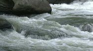 Stock Video Footage of River water running over rocks (6 of 6)