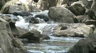 Stock Video Footage of River water running over rocks (3 of 6)