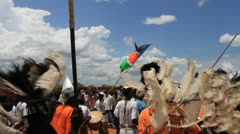 Wavin the South Sudanese Flag Stock Footage