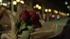 City Night Roses - stock footage