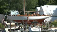Man building a boat (1 of 1) Stock Footage