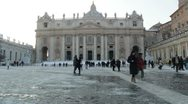 People walking at St. Peter Square Stock Footage