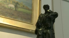 Art exhibit (2 of 6) - stock footage