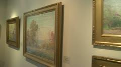 Art exhibit (3 of 6) - stock footage