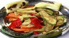 Roasted vegetables Stock Footage