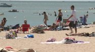 Stock Video Footage of Crowds on a sunny beach (8 of 10)