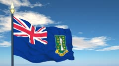 Flag Of British Virgin Islands Stock Footage