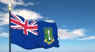 Flag Of British Virgin Islands Stock Footage