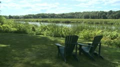 Serene relaxation area (3 of 3) Stock Footage
