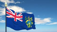 Flag Of Pitcairn Stock Footage