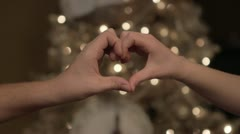 Heart Hand Christmas - stock footage