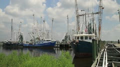 Vietnamese Shrimpers in the Gulf - stock footage