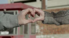 Heart Hands Urban Background - stock footage
