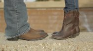 Stock Video Footage of Feet in Cowboy Boots