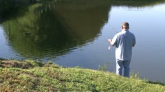Man fishing (1 of 5) Stock Footage
