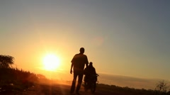 Epic African Sunrise Walk  Stock Footage