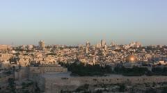 Sunrise In Jerusalem - Timelapse Stock Footage