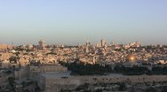 Stock Video Footage of Sunrise In Jerusalem - Timelapse