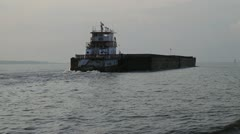 Barge on the Gulf of Mexico - stock footage
