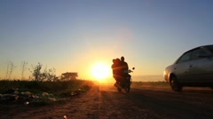 Silhouette of African Road - stock footage