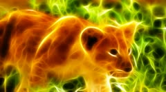 Little Lion Fractal Rendering - stock footage