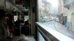 Tram Ride Through Streets of Milan, Italy Stock Footage