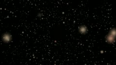 Cosmic glittering particles Stock Footage