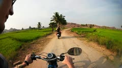 Moto travel in India - stock footage