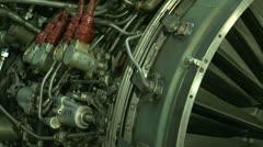 Turbojet aircraft engine Stock Footage