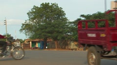 African Taxi and Motorcycles  Stock Footage