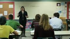 Teaching class Stock Footage