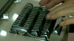 Writing in old typewriter Stock Footage