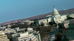 Supreme Court & US Capitol Building, angle Stock Footage