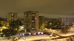 Night timelapse in residental area 1080 Stock Footage
